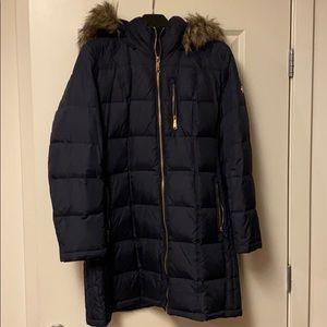 Never worn Michael Kors Faux Fur Trim Puffer Coat